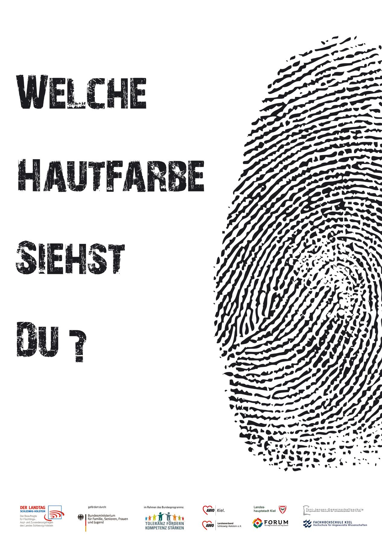 Presse Plakate gegen Rechtsextremismus