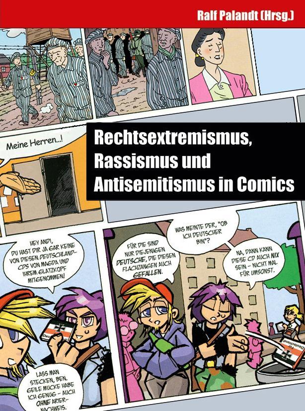Titelbild Sammelband Rechtsextremismus, Rassismus und Antisemitismus in Comics